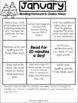 January First Grade Homework Choice Menus- CCSS aligned