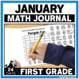 First Grade Math Journal for January