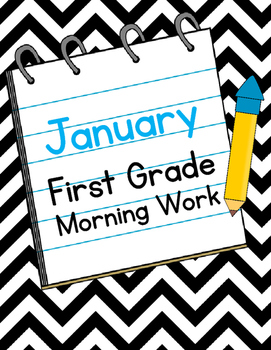 January First Grade Morning Work