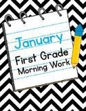 January First Grade Morning Work