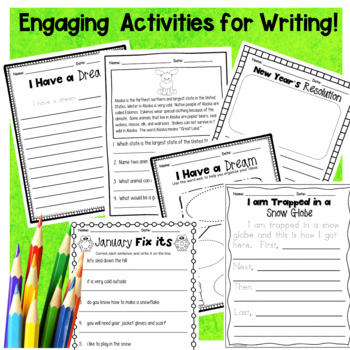 January First Grade No Prep Literacy Packet