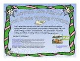 January First Grade Writing Prompts and Journal Pages (CCS Aligned)