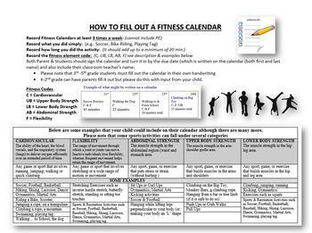 January Fitness Calendar 2019 by Physical Education Fun | TpT