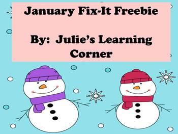 January Fix-It Freebie