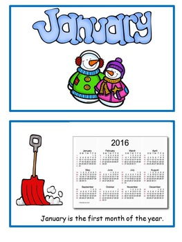 January Flip Book for early readers