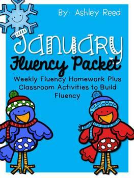 January Fluency Homework Practice Packet