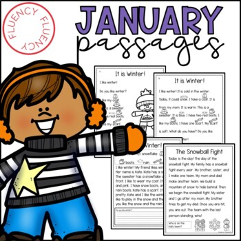 January Fluency Passages (Differentiated)