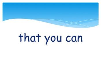 January Fluency Phrase PowerPoint