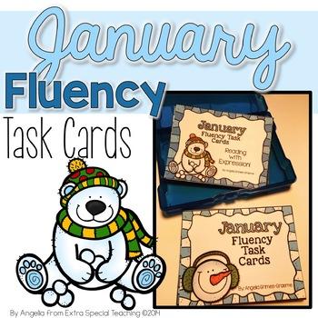 January Fluency Practice Task Cards