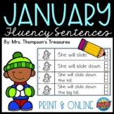 January Guided Reading Fluency Sentences