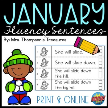 January Guided Reading Fluency Sentences