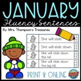 January Fluency Strips