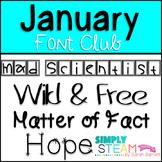 SB Fonts - January 2017 Font Club