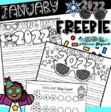 January Freebie ~ 2018 New Year Writing & Skip Counting