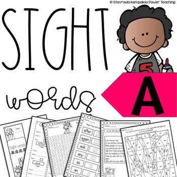"""Sight Words - A"" with answer key"