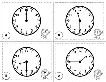 January Freebie: Telling Time Task Cards