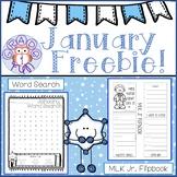 January Freebie! Word Search and MLK Jr. Flipbook