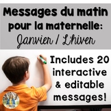 January French Morning Messages/Messages du matin: janvier
