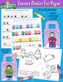January Fun Pages - Coloring and Activity Download - Dista