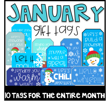 January Gift Tags (Gift Tags for Students & Teachers)
