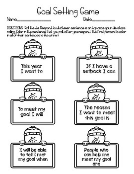 January Goal Setting Roll and Respond Game
