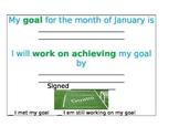 January Goal Sheet