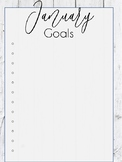 January Goals Print Out (Rustic Themed)