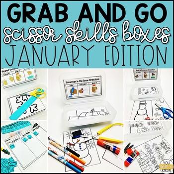 January Grab and Go Scissor Skills Activities