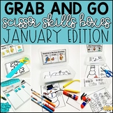 January Grab and Go Scissor Skills Activities
