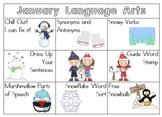 January Grammar/ Language Arts Centers