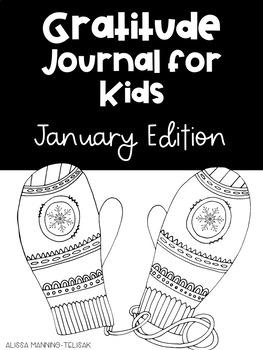 January Gratitude Journal for Kids