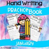 January Hand Writing Practice Book