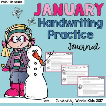 January Handwriting Practice Journal