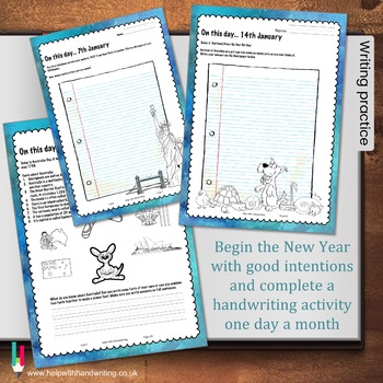 January Handwriting Workbook