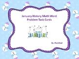 January History Math Word Problem Task Cards