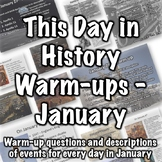 This Day in History Warm-ups for January