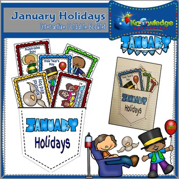 January Holidays Interactive Foldable Booklet