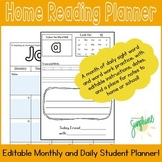January Home Reading Planner, August - May