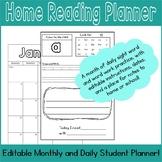 January Home Reading Planner, September - June