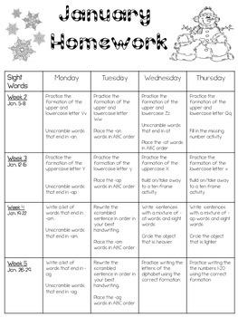 January Homework 2015