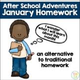 January Homework After School Adventures