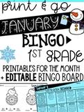 January Homework Bingo > Printables & EDITABLE Bingo Board