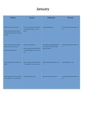 January Homework Calendar Package