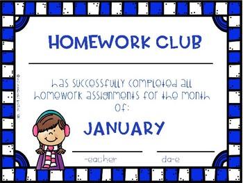 January Homework Club