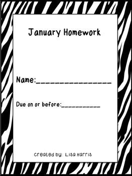 January Homework Packet