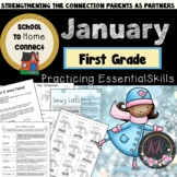 January Homework Packet: 1st Grade