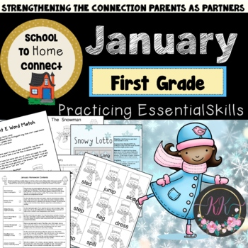January Homework Packet: 1st Grade