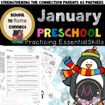 January Homework Packet: Preschool