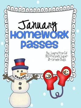 January Homework Passes