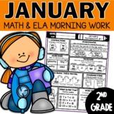 January Homework or Morning Work for 2nd Grade